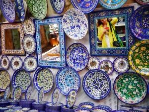 Armenian pottery. I want to buy everything in this store.
