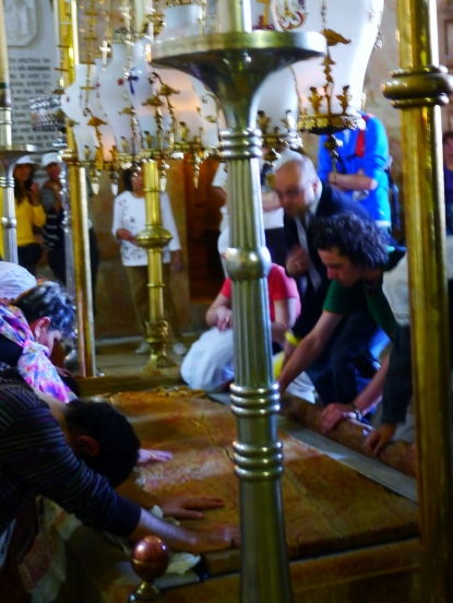 Church of the Holy Sepulchre, where Jesus' body was supposedly laid