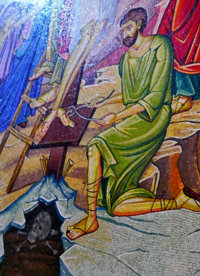 A morbid mosaic in the Church of the Holy Sepulchre
