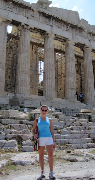 Meghan at the Parthenon