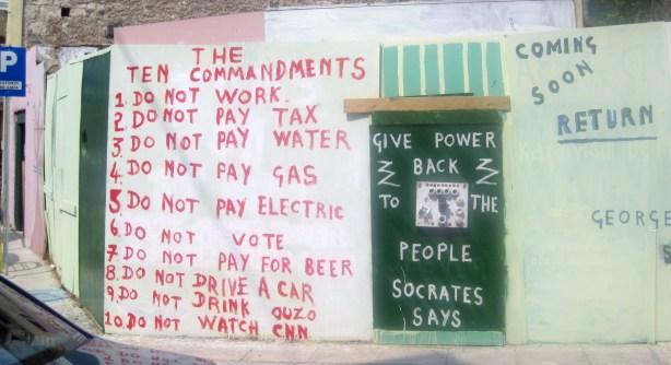 Irish Tom's Ten Commandments