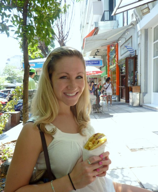My first souvlaki.  In retrospect, I'm surprised I did anything but eat in Greece.
