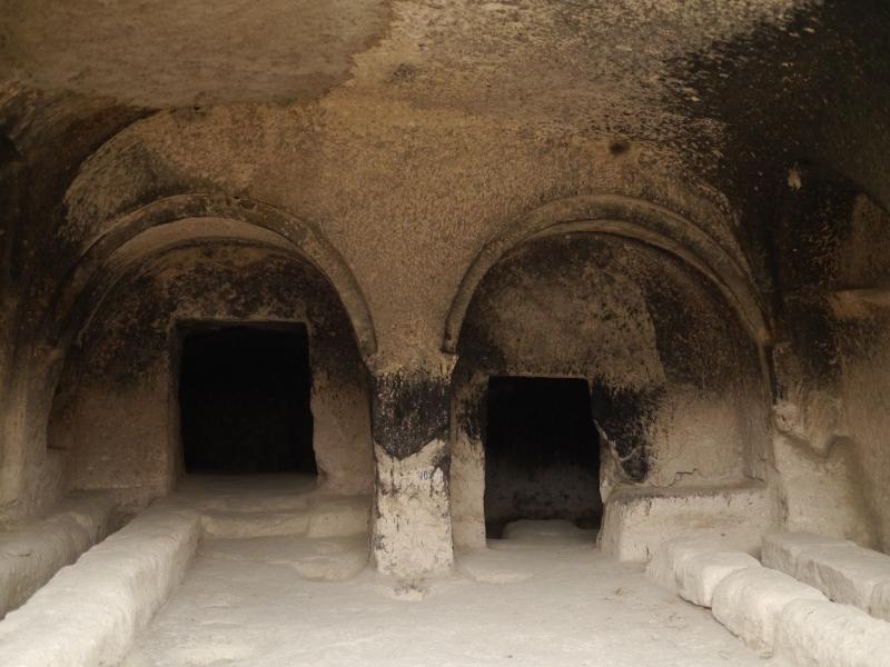 Inside the caves at Vardzia