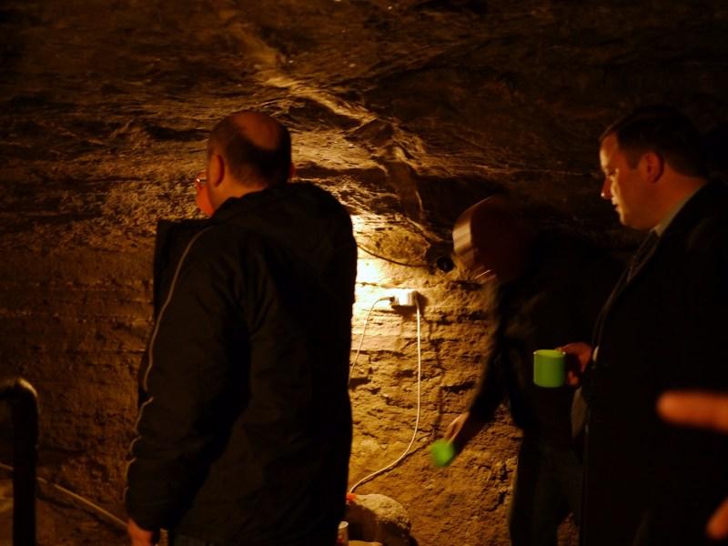 Holy water in Vardzia cave monastery