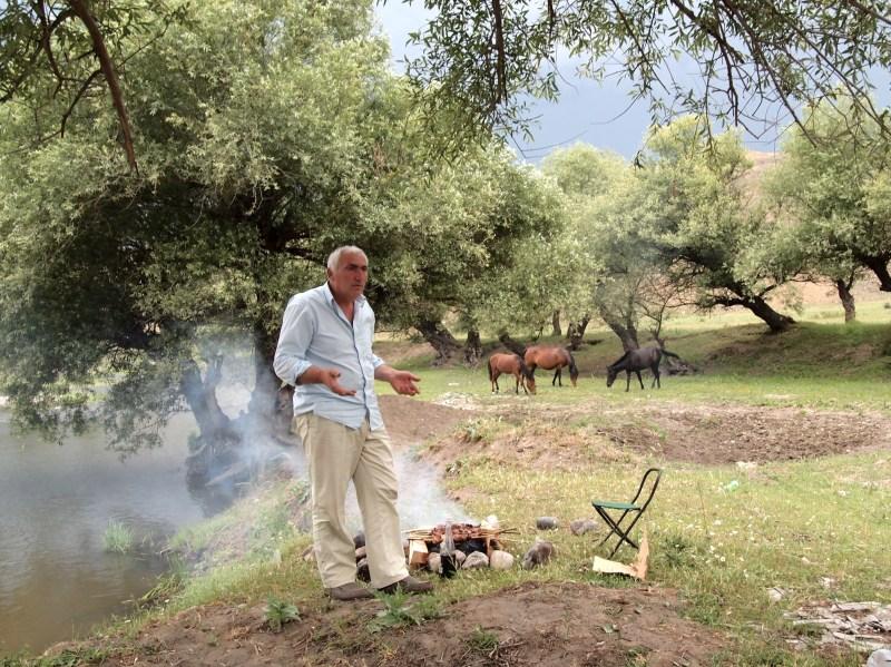Khvicha and some horses