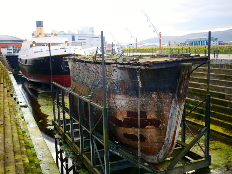 Dry dock in Belfast