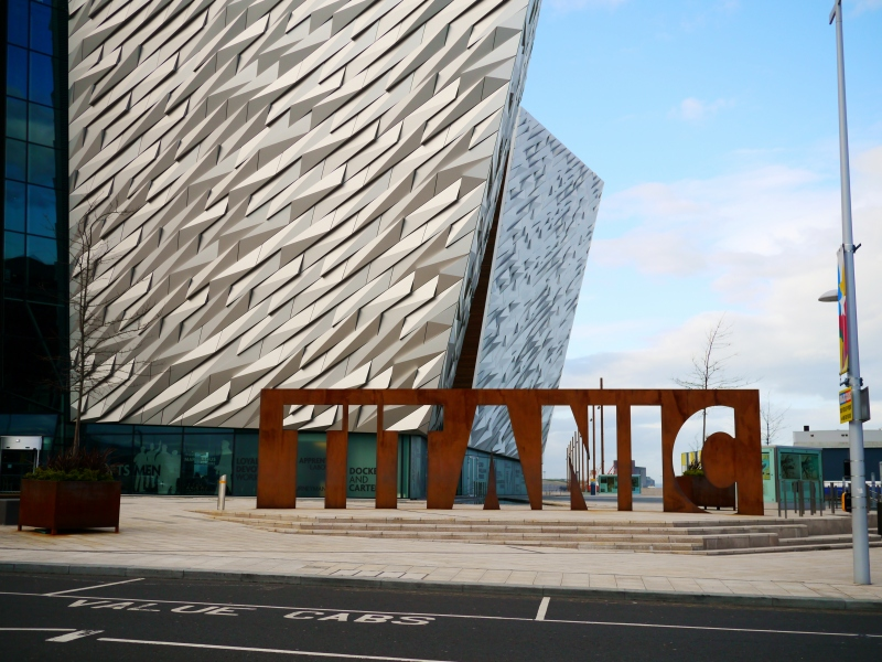 The Titanic Museum, because the ship was designed and built in Belfast a hundred years ago.